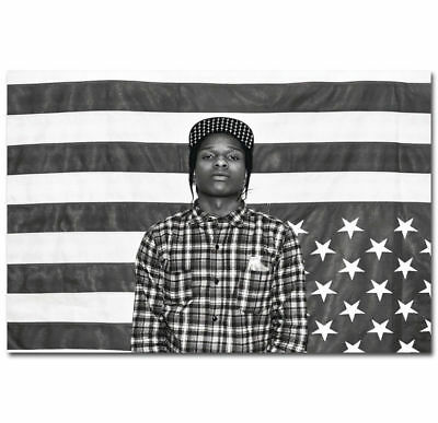 0118D Hot ASAP ROCKY Rapper Hip-Hop Music Rap Star-Print Art Silk Poster