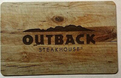 Outback Steakhouse $75.00 gift card