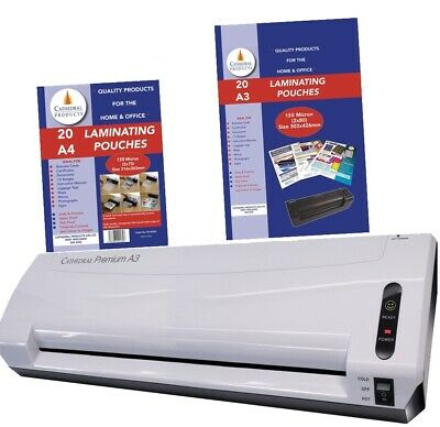 A3 Premium Laminator -CATHEDRAL- Free A3/A4  Pouches