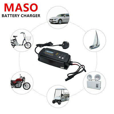 12 V 2/4/8 A Smart Intelligent Car Battery Charger Recover Automobile Motorcycle