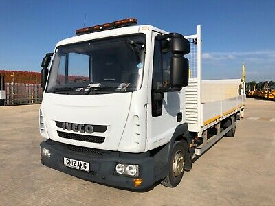 2012 Iveco Ml75E16 7.5 Ton Dropside Flat Bed Tail Lift Truck Lorry Scafolding