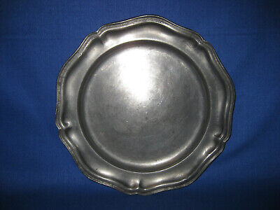 Antique England Heavy Pewter Plate By Thomas Williams.
