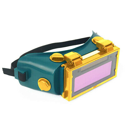Workplace Gas Solar Auto Darkening Mask Glasses Flip Up Lens LCD Welding Goggle