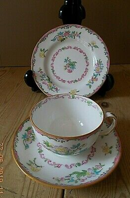 VINTAGE MINTON TRIO .. CUP, SAUCER, TEA PLATE 7 AVAILABLE Pattern Reg No: 654443