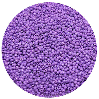 Lot of 2500pcs DIY 11/0 Rocaille 1.8mm Small Round Glass Seed Beads Light purple