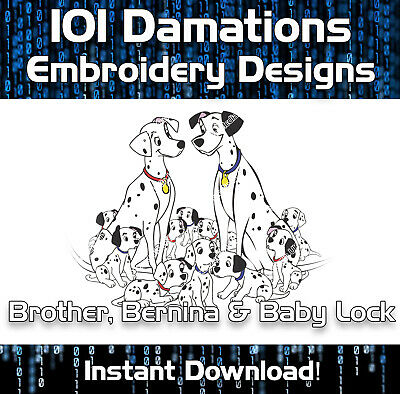 Disney 101 Dalmatians Brother Embroidery Designs PES format - Download