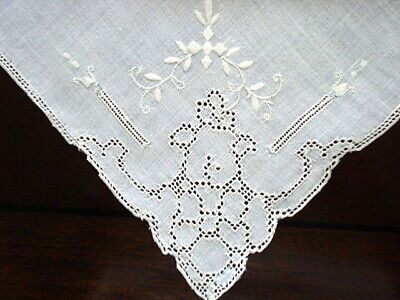 "Vintage NAPKINS 6@21"" Fine Linen~Beautiful Embroidery~Mosaic Drawn Work"