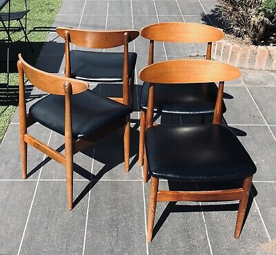 Mid Century Scandinavian G-PlanStyle Dining Chairs Set Of 4