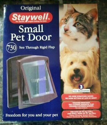 2 Way Small Pet Door By Staywell. Petsafe. For Cats And Dogs. Colour: Brown Bnib