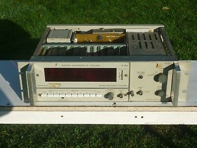 TF2410 TM8517 MARCONI INSTRUMENTS 120MHz FREQUENCY COUNTER / VIDEO AMPLIFIER