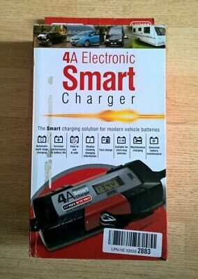 MAYPOLE 4A Electronic Smart Battery Charger