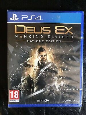 Deus Ex Mankind Divided Day One Edition - Playstation 4 - New & Sealed.