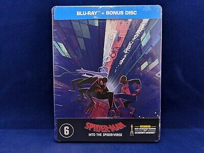SPIDER-MAN Into The Spider-Verse Steelbook Bluray Bonus Exclusive Marvel Trio