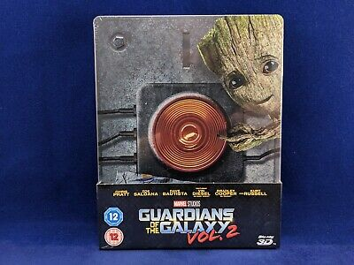 GUARDIANS GALAXY Vol.2 - Steelbook - Bluray - 3D - Titre sur Tranche - Marvel