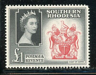 SOUTHERN RHODESIA MNH Selections: Scott #94 £1 QEII Coat of Arms CV$25+