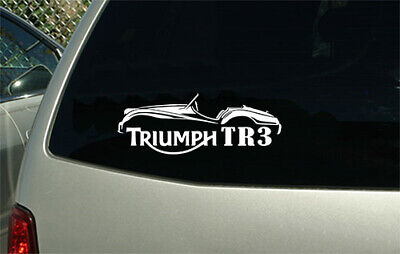 Triumph motorcycle Custom Vinyl Sticker Decal Car Truck MC Tank retro HD Bike