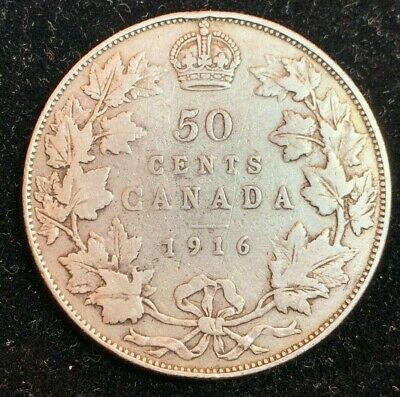 1916 Canadian 50 Cent Coin (C#2841)