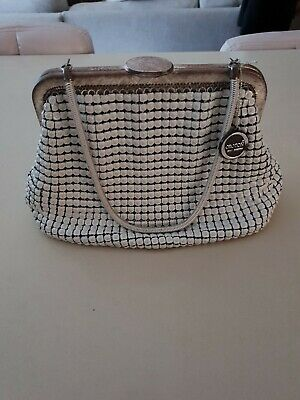 Stunning Vintage OROTON White Mesh Purse - New Old Stock - Original