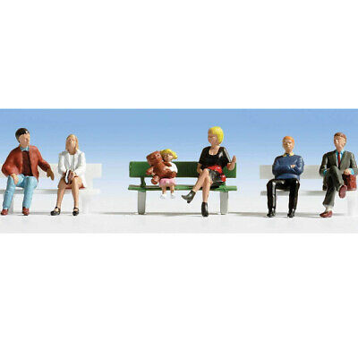 Walthers 949-6057 Seated People Pkg (6) Set #1 HO Scale