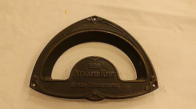 Atwater Kent 558 cathedral radio brass faceplate 1930s tombstone tube shortwave