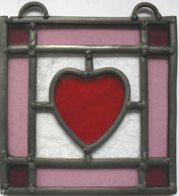 stained glass panel with reclaimed glass.