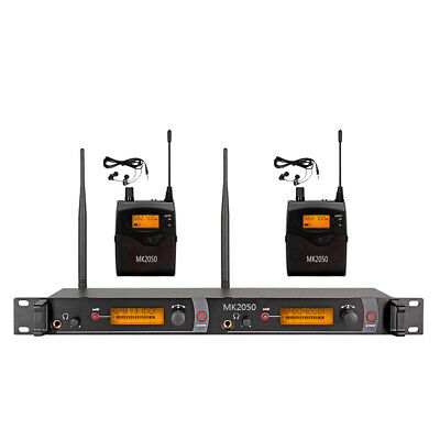 Wireless In Ear Monitor System 2/4/5/6 Receiver 2*40 Channel UHF Pro Audio Stage
