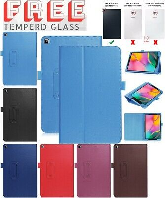 """Tempered+ Leather Flip Case Stand Cover For Samsung Galaxy Tab A 10.1"""" 2019 T510"""