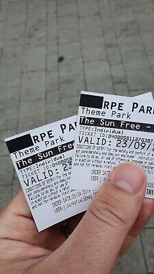 2x tickets Thorpe Park Resort for Monday 23rd September (Sun Savers) Free post