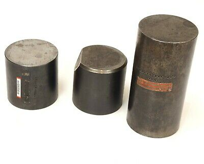 "FEG Machinist Cyclindrical Square 3 pcs set 3""Dx6""h, 3""Dx3""H, 3""Dx3""H w/70°edge"