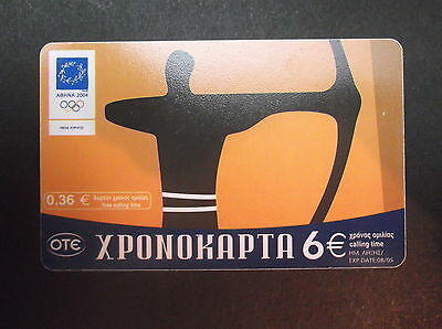 GREECE xr156a 08/04 103500 pcs Artistic approach of Olympic games 2 OTE CARD