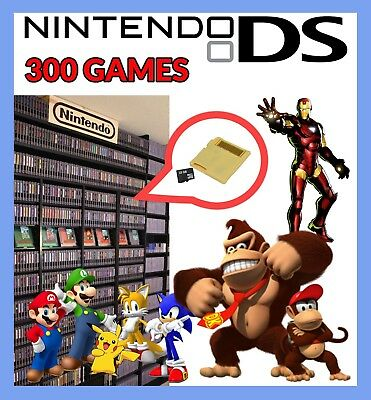 Nintendo game card DS / DSi / 2DS / 3DS and XL Systems 300 games bundle