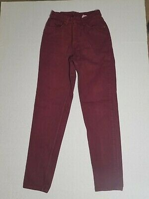 Red LEVIS Vintage 512 Slim Fit Tapered Leg High Waisted Mom Jean MADE IN USA Sz7