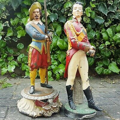 2 Large 19th Century French Spelter Figures. Wellington & a Musketeer (Waterloo)