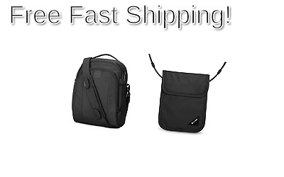 a471a438b PacSafe Metrosafe LS250 Anti-Theft Shoulder Bag with RFID Blocking Neck  Pouch