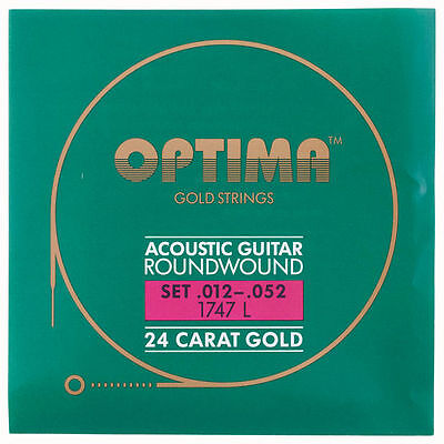 OPTIMA Gold Acoustic Roundwound Guitar Strings | 012 - 052 | 1747 L 1747L
