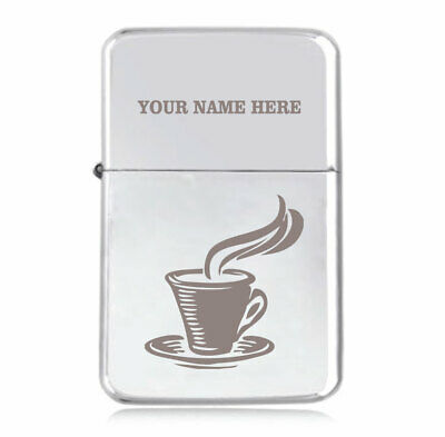 Personalised STAR Lighter in Black – Coffee Lover Design