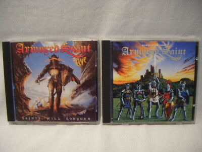 Lot Of 2 Armored Saint CD's CD March Of The Saint Saints Will Conquer Live H13