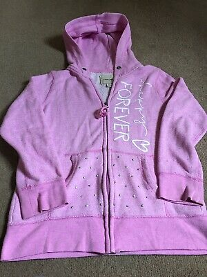 LOVELY GIRL'S PINK LONG SLEEVE HOODIE JACKET, SIZE L/G 10/12 CHEROKEE, Zip Front