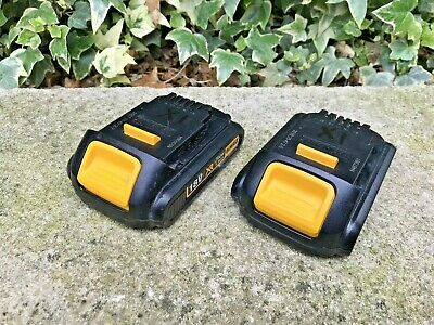 2 X Dewalt Dcb181 18V 1.5Ah Lithium Ion Batteries Used Ref - X1   Fully Working