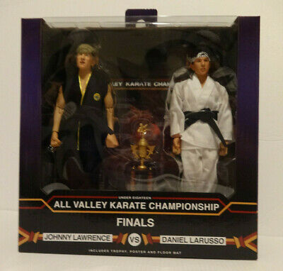 Neca Karate Kid Johnny and Daniel 2 pack Tournament Finals Wear on Corner of Box