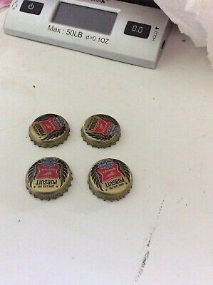 4 Miller High Life Harley Davidson Bike Bottle Caps Crowns Tops Undented Rinsed