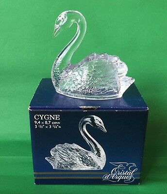 Boxed Crystal d'Arques Cygnet