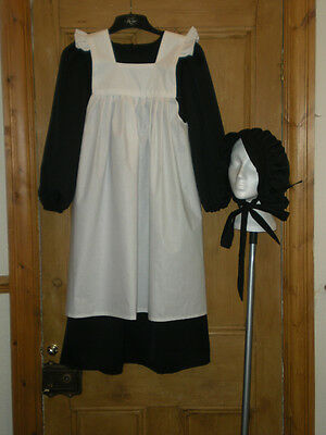 Quality Victorian School Girl Fancy Dress Costume Various Sizes / Colours