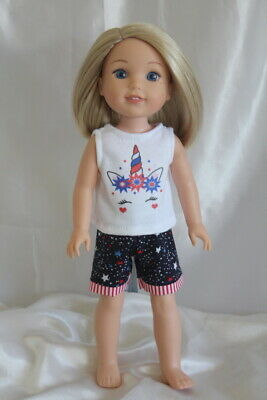 Dress Outfit fits 14inch American Girl Wellie Wishers Doll Clothes Lot Unicorn