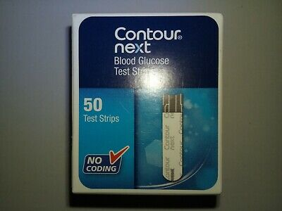 Contour ® Next Blood Glucose Test Strips 1 Box Of 50 Strips Long Expiry Date