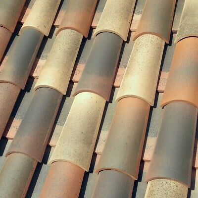 New Spanish / French Roof Tiles - Curved, Mission Barrel, Canal - 2 tile system