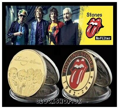 The Rolling Stones  - Rock Band Music - Collector Coin Medallion - (Cn30)