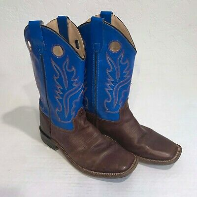 0b5817fb398 OLD WEST YOUTH Boys' Thunder Cowboy Boot - Square Toe - BSY1840GY ...