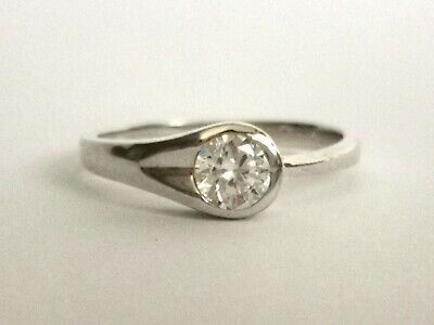 Pretty Silver Tone Ring With Clear Stone - Metal Detecting Find