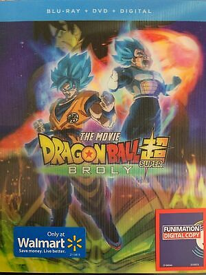 Dragon Ball Z The Movie Super Broly (Blu-Ray+Dvd+Digital)W/Lenticular Cover New